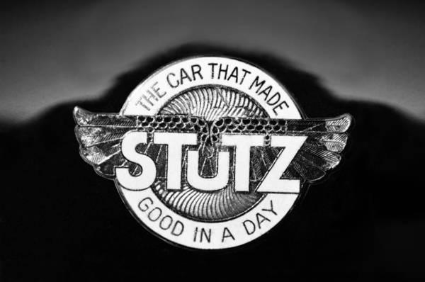 Photograph - 1925 Stutz Series 695h Speedway Six Torpedo Tail Speedster Emblem by Jill Reger