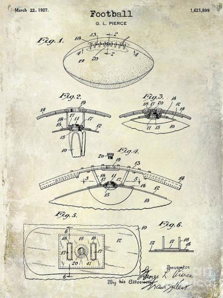 Wall Art - Photograph - 1927 Football Patent Drawing  by Jon Neidert