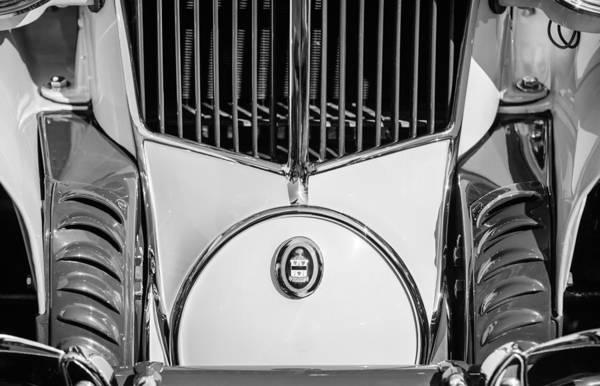Cord Photograph - 1930 Cord L-29 Speedster Grille Emblem by Jill Reger