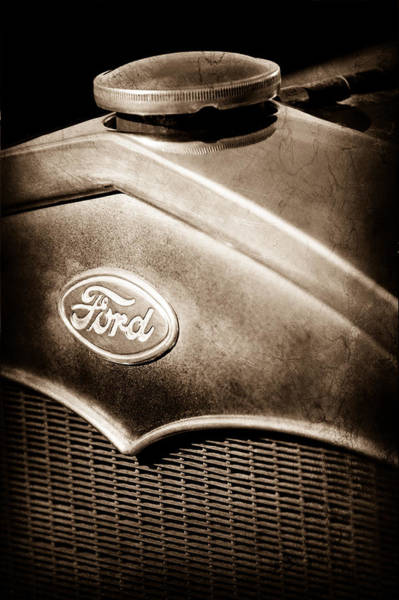 1931 Photograph - 1931 Ford Grille Emblem by Jill Reger