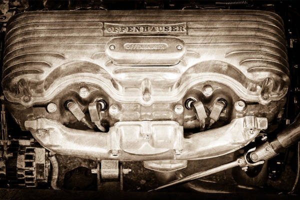 1932 Photograph - 1932 Ford 409 Engine by Jill Reger