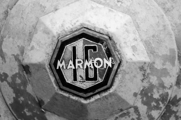 Photograph - 1932 Marmon Sixteen Lebaron Victoria Coupe Emblem by Jill Reger