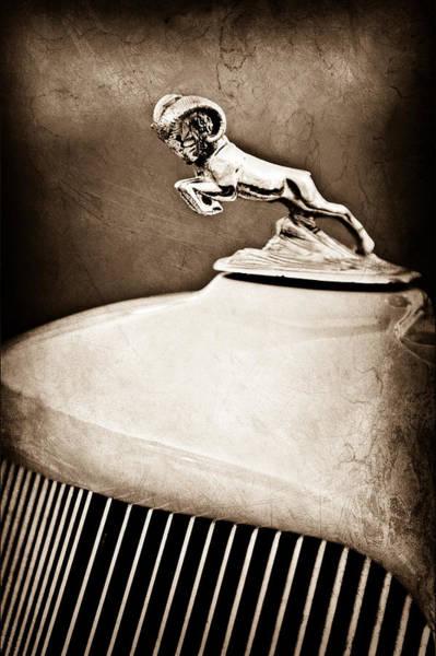 1933 Photograph - 1933 Dodge Ram Hood Ornament - Grille by Jill Reger