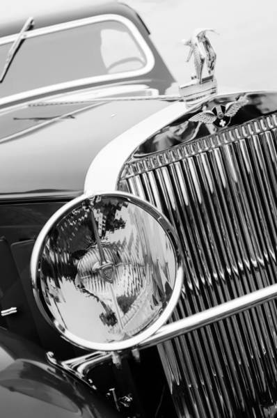 Photograph - 1933 Hispano-suiza J12 Vanvooren Coupe Grill Emblem - Hood Ornament by Jill Reger