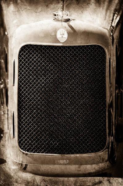 Photograph - 1933 Maserati Grand Prix 8-cm Grille Emblem by Jill Reger