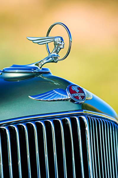 Photograph - 1933 Pontiac Hood Ornament - Emblem by Jill Reger