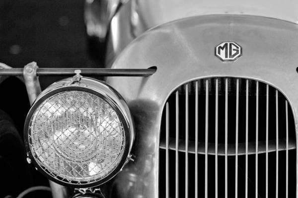 Mg Photograph - 1934 Mg Pa Midget Supercharged Special Speedster Grille by Jill Reger