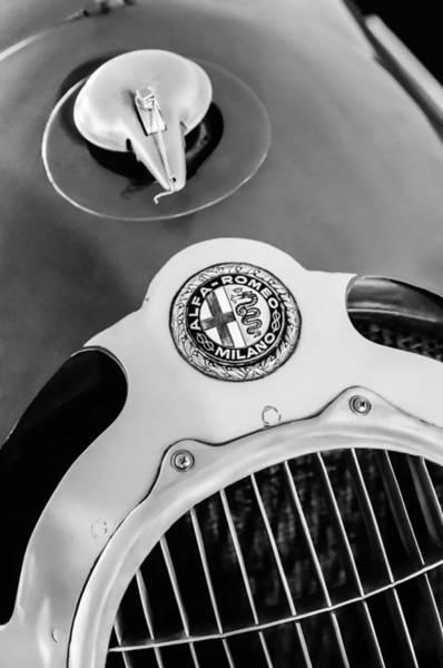 Photograph - 1935 Alfa Romeo 8c-35 Grille Emblem by Jill Reger