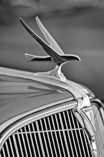 Photograph - 1935 Hudson Touring Sedan Hood Ornament by Jill Reger
