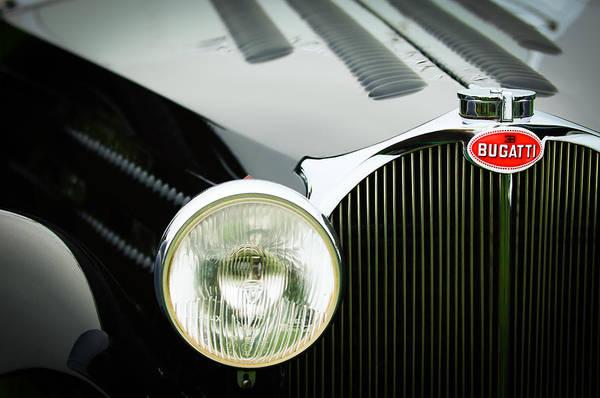 Photograph - 1936 Bugatti Type 57s Corsica Tourer Grille Emblem by Jill Reger