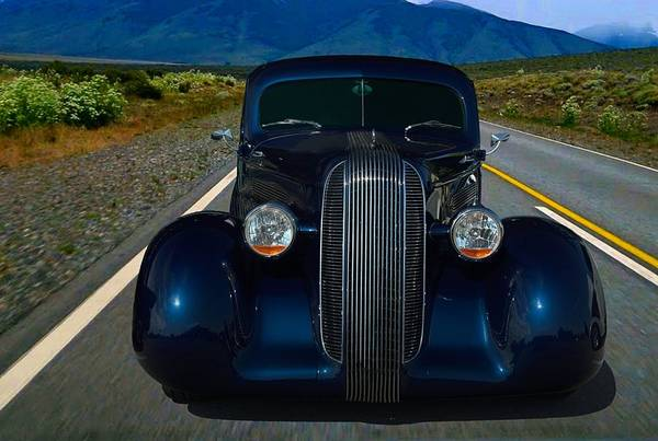Photograph - 1936 Plymouth Custom Coupe Hot Rod by Tim McCullough