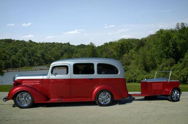 Photograph - 1937 Chevrolet Suburban With Trailer by Tim McCullough