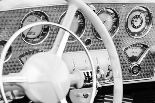 Photograph - 1937 Cord 812 Phaeton Dashboard Instruments by Jill Reger