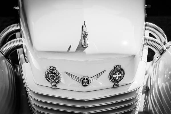 Photograph - 1937 Cord 812 Phaeton Grille Emblems by Jill Reger