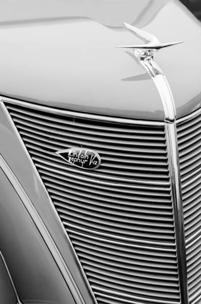Photograph - 1937 Lincoln-zephyr Coupe Sedan Grille Emblem - Hood Ornament by Jill Reger