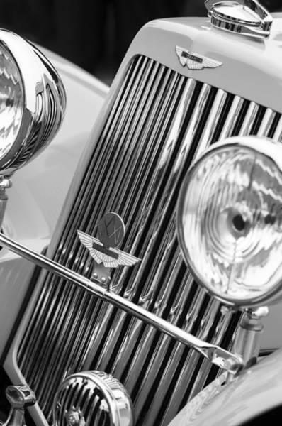 Photograph - 1939 Aston Martin 15-98 Abbey Coachworks Swb Sports Grille Emblems by Jill Reger