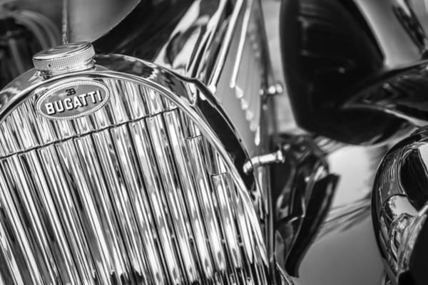 Photograph - 1939 Bugatti T57c Galibier Grille Emblem by Jill Reger