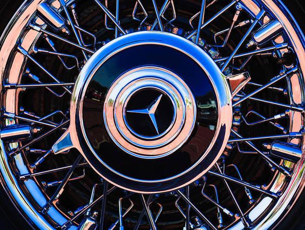 Wall Art - Photograph - 1939 Mercedes-benz 540k Special Roadster Wheel Rim Emblem by Jill Reger