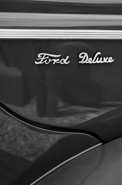 1940 Ford Coupe Photograph - 1940 Ford Deluxe Coupe Emblem by Jill Reger