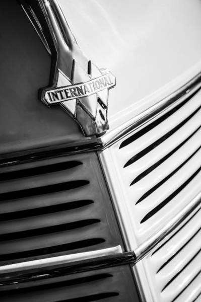 Photograph - 1940 International D-2 Station Wagon Grille Emblem by Jill Reger