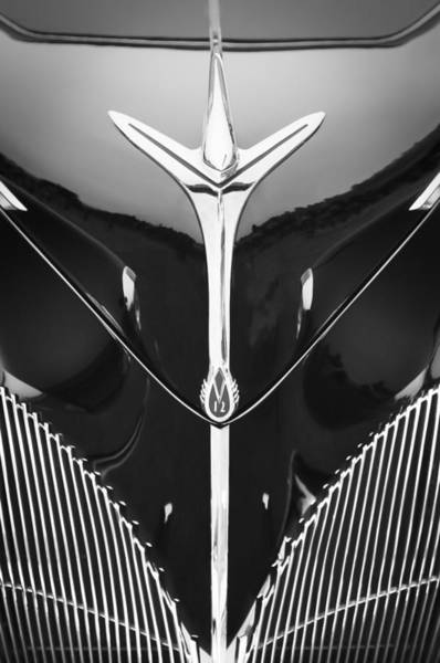 Photograph - 1940 Lincoln-zephyr Convertible Grille Emblem - Hood Ornament by Jill Reger
