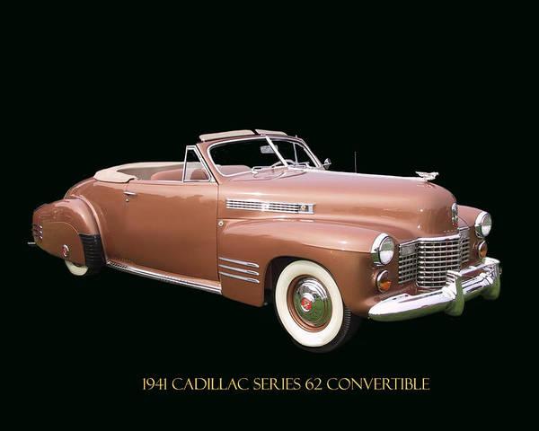 Rungs Wall Art - Photograph - 1941 Cadillac Series 62 Convertible by Jack Pumphrey