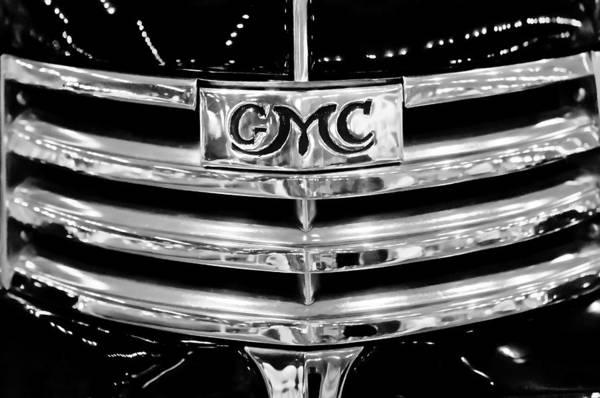 Photograph - 1941 Gmc Suburban Woody Wagon Grille Emblem by Jill Reger