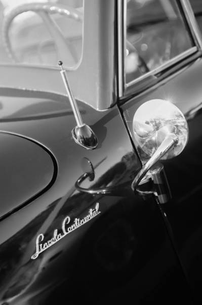 Lincoln Continental Photograph - 1941 Lincoln Continental Convertible Emblem by Jill Reger