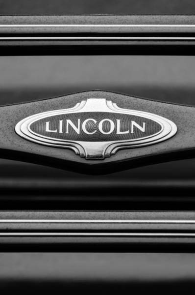 Photograph - 1941 Lincoln Emblem by Jill Reger