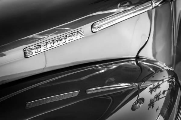 Photograph - 1946 Mercury Side Emblem by Jill Reger