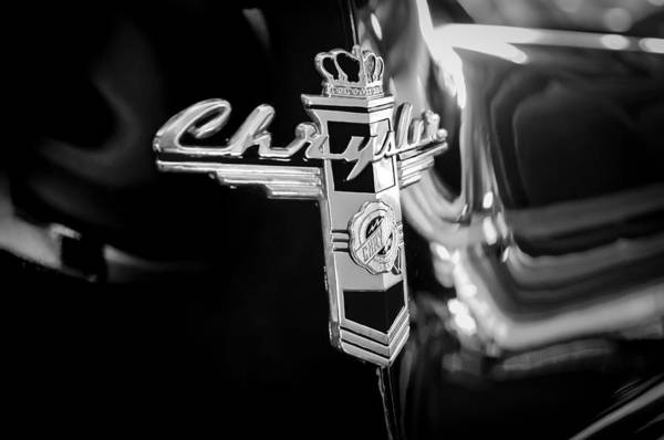 Photograph - 1947 Chrysler New Yorker Town And Country Convertible Emblem by Jill Reger