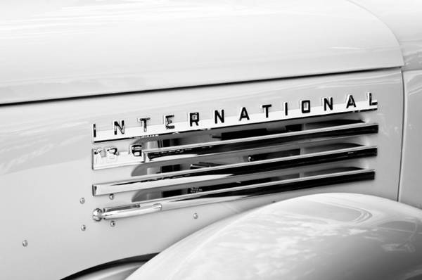 Photograph - 1948 International Emblem by Jill Reger