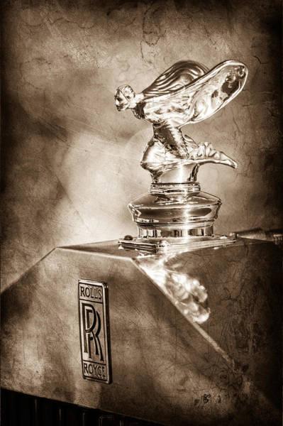 Photograph - 1948 Rolls-royce Hood Ornament - Emblem by Jill Reger