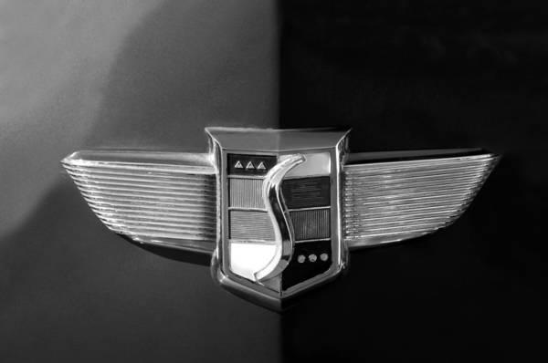 Photograph - 1948 Studebaker Emblem by Jill Reger