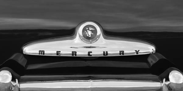 Photograph - 1949 Mercury Coupe Emblem by Jill Reger