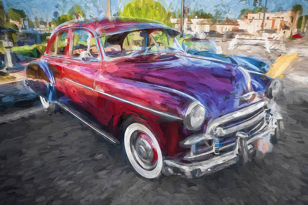 Dual Exhaust Photograph - 1950 Chevrolet Sedan Deluxe Painted  by Rich Franco