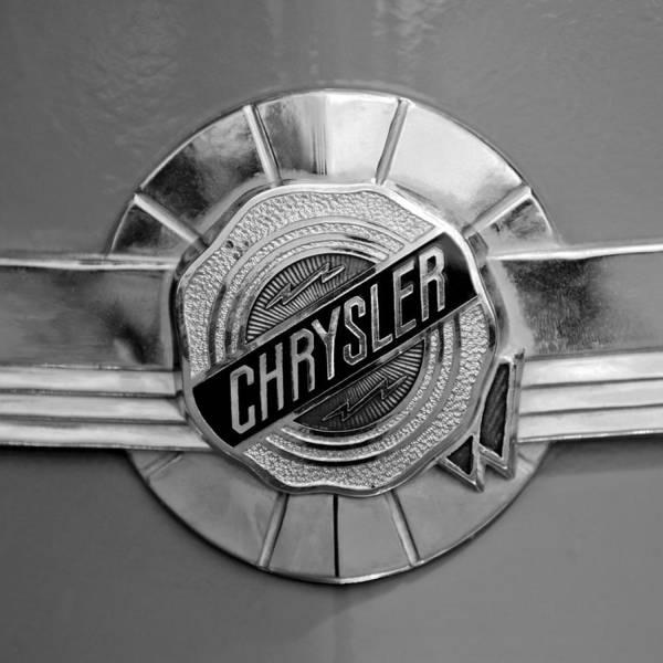 Photograph - 1950 Chrysler Windsor Emblem by Jill Reger