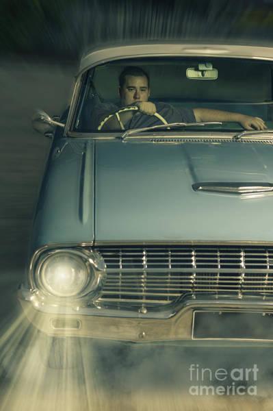 Thru Photograph - 1950 Era American Car Culture  by Jorgo Photography - Wall Art Gallery