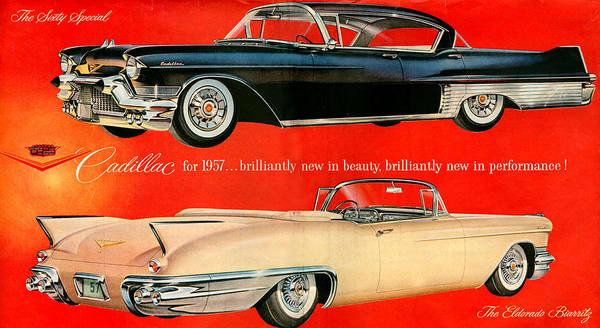 The Specials Drawing - 1950s Usa Cadillac Magazine Advert by The Advertising Archives