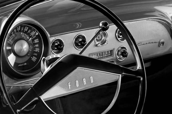 Photograph - 1951 Ford Crestliner Steering Wheel by Jill Reger