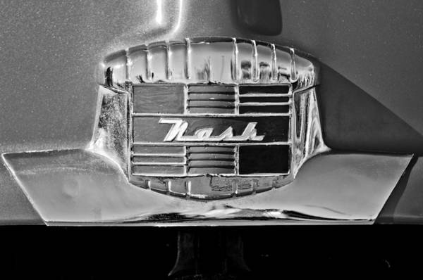 Photograph - 1951 Nash Emblem by Jill Reger