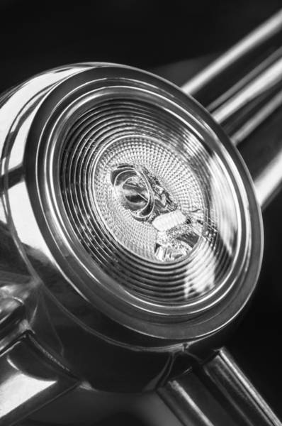 Photograph - 1952 Desoto Steering Wheel Emblem by Jill Reger