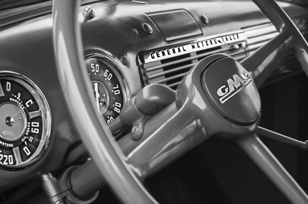 Photograph - 1952 Gmc Suburban Steering Wheel Emblem by Jill Reger