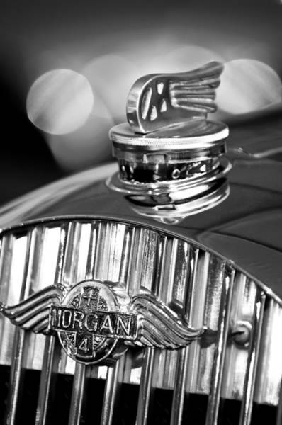 Photograph - 1952 Morgan Plus 4 Hood Ornament And Emblem by Jill Reger