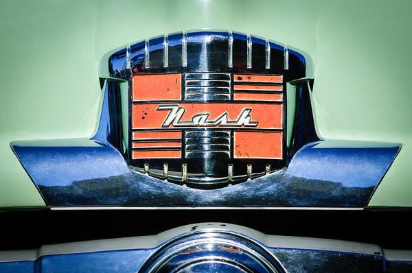 Photograph - 1952 Nash Rambler Greenbrier Station Wagon Emblem by Jill Reger