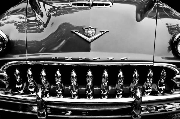 Convertible Photograph - 1953 Desoto Firedome Convertible Grille Emblem by Jill Reger