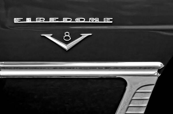 Photograph - 1953 Desoto Firedome Convertible Side Emblem by Jill Reger