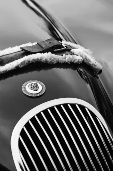 Photograph - 1953 Jaguar Xk 120se Roadster Grille Emblem by Jill Reger