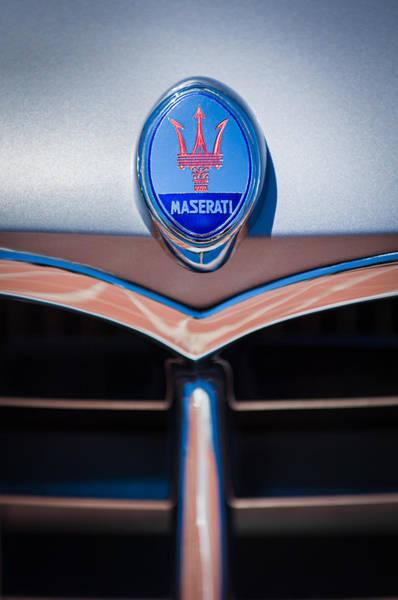 Photograph - 1953 Maserati A6g-2000 Spyder Grille Emblem by Jill Reger