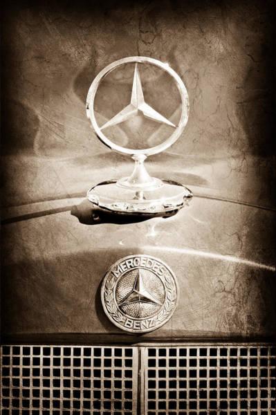 1953 Photograph - 1953 Mercedes Benz Hood Ornament by Jill Reger